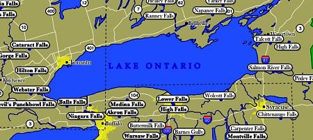 lake ontario map