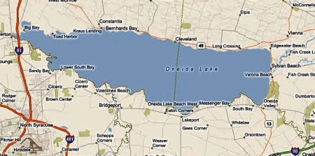 Oneida Lake Map