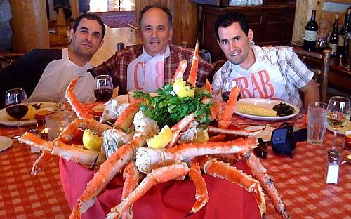 King Crab Dinner at Fishing Lodge