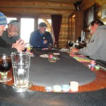 poker after fishing all day