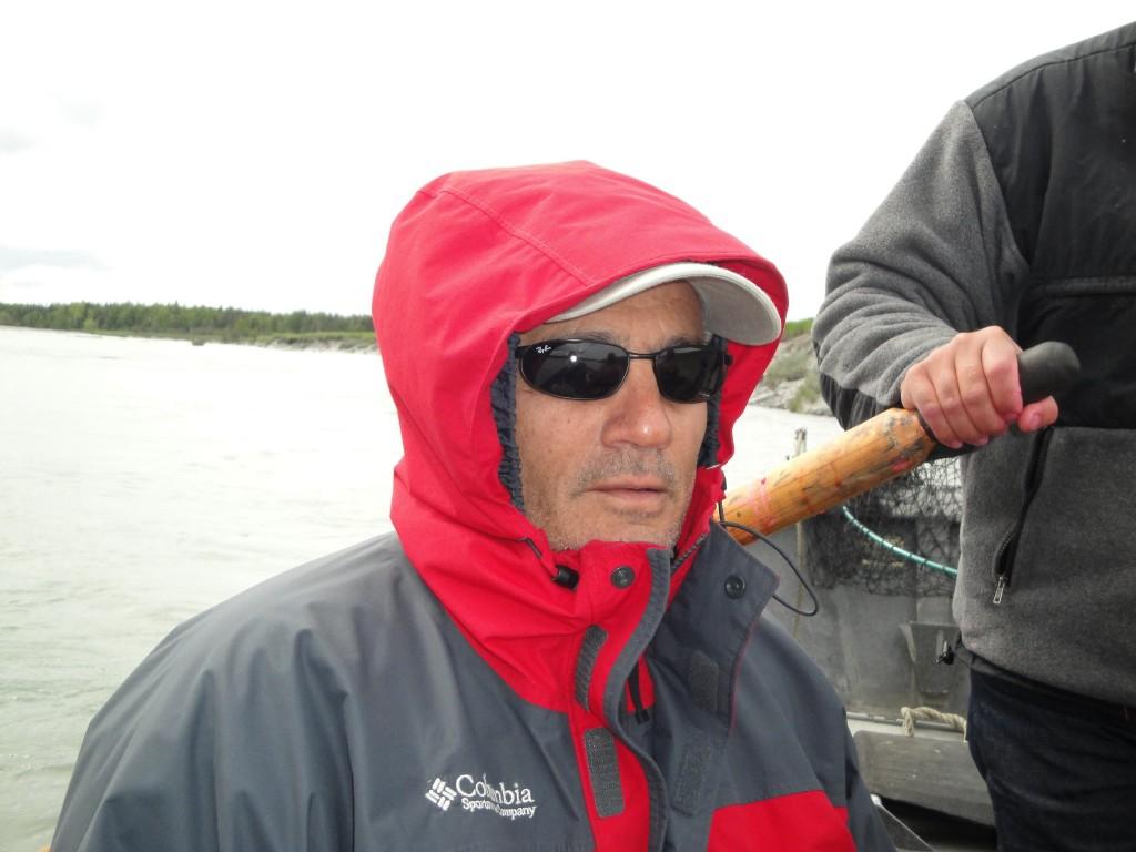dad fishing in Alaska