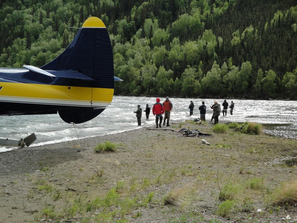 fishing alaska lakes with bush plane