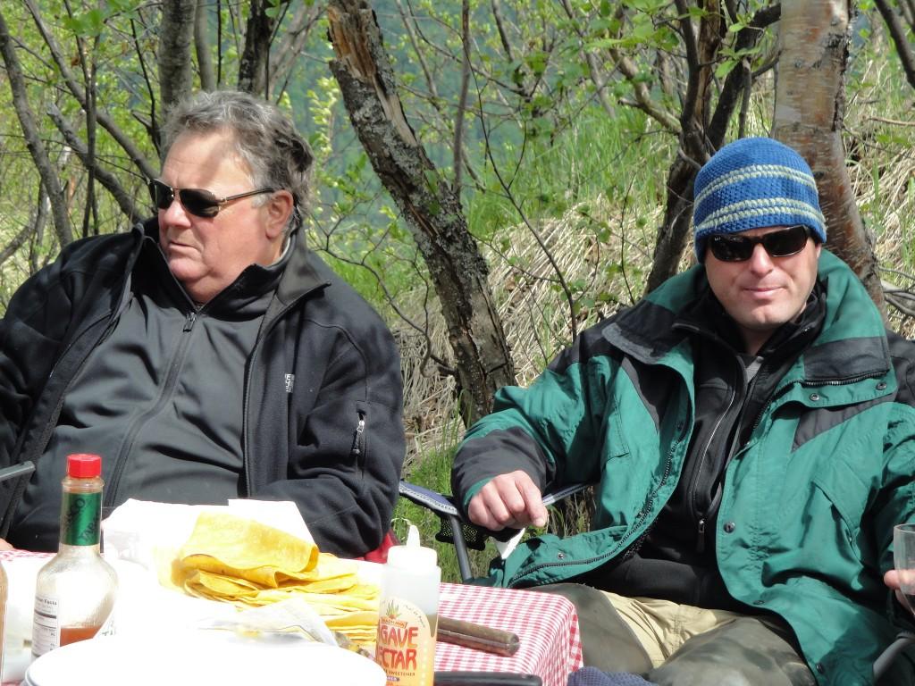 lunch at crescent lake alaska