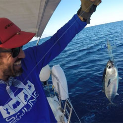 hand line trolling for tuna